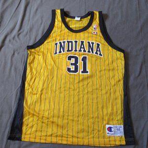 Vtg Champion NBA Reggie Miller Indiana Jersey XL